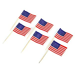 50pcs american flag cake decoration cupcake for American flag cake decoration
