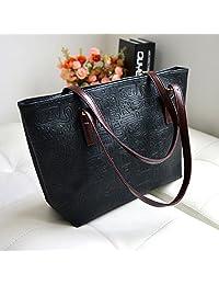 PU Leather Vintage Oracle Candy Color Tote Handbag Shoulder Bag