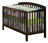 Atlantic Furniture Eco-Friendly Richmond Convertible Crib, Antique Walnut