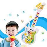 Cute Baby Portable Early Learning ELC Rock Star Music Guitar Toys (2 Color for choose) (Yellow)