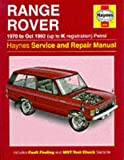 img - for Range Rover 1970 to Oct 1992 (up to K registration) Petrol Service & Repair Manual (Haynes) book / textbook / text book
