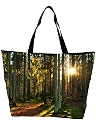Snoogg Abstract Sunlight In Forest Designer Waterproof Bag Made Of High Strength Nylon - B01I1KNOJE