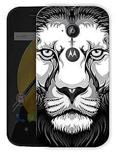 "Lion Obsession Printed Designer Mobile Back Cover For ""Motorola Moto E2"" By Humor Gang (3D, Matte Finish, Premium Quality, Protective Snap On Slim Hard Phone Case, Multi Color)"