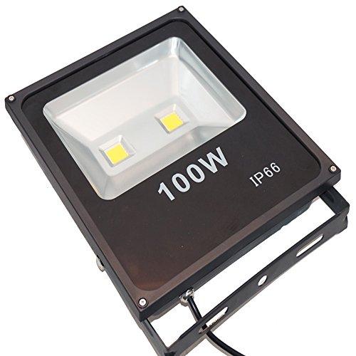 Faro led faretto luce calda esterno 100w resa 1000w alta - Fari da esterno led ...