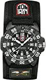 Luminox Men's 3951 Black Nylon Analog Quartz Watch with Black Dial