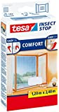 tesa 55918 Insect Stop, Mosquito, Fly And Insect Screen, Inward Opening Windows 1.2m x 2.4m White