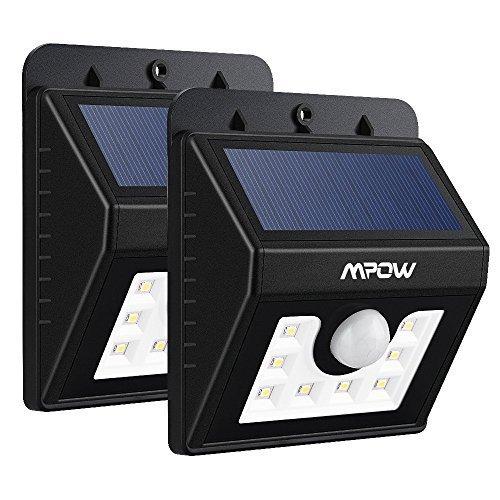 2-PACK-Mpow-Lampe-Solaire-LED-Etanche-Faro-Lumiere-8-LED-avec-paneau-solaire-Luminaire-exterieur-Sans-Fil-avec-Dtecteur-de-Mouvement-Eclairage-exterieur-Solaire-pour-Jardin-Patio-Pont-Alle-et-Garage-c