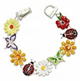 Multicolored Spring Flower Theme Magnetic Bracelet Fashion Jewelry