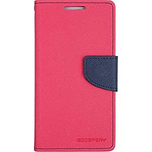CLASSICO WALLET DAIRY FLIP COVER FOR MICROMAX A116 CANVAS HD  DARK PINK BLUE  available at Amazon for Rs.170