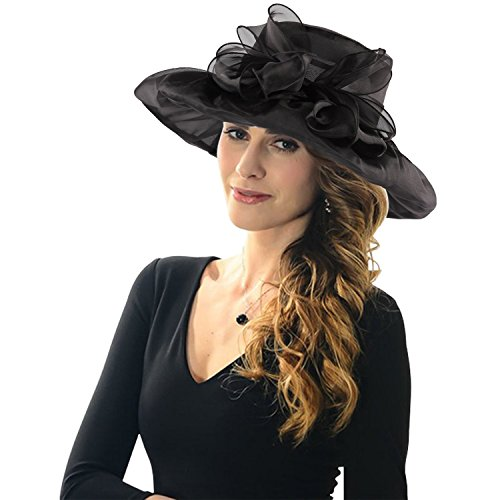 icsth-womens-organza-kentucky-derby-church-party-floral-wide-brim-summer-hat-one-size-black