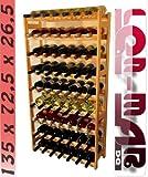 Weinregal Weinregal Holz Flaschenregal für 63 Flaschen NEU!!! R-63