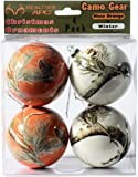 Realtree Camo Christmas Ornaments Orange & White 4 pk Camouflage