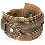 The Most Comfortable Genuine Leather Cuff Bracelet by Tundra Jewelry - Brown