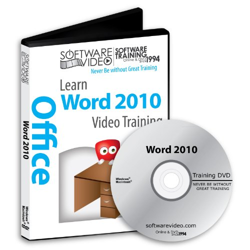 Software Video Learn Microsoft Word 2010 Training Dvd Sale 60% Off Training Video Tutorials Dvd Over 14 Hours Of Video Training