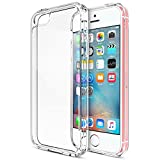 iPhone SE Case, Trianium [Clear Cushion] Protective Clear Bumper For Apple iPhone SE 2016 & iPhone 5S 5 [Scratch Resistant] Seamless integrated Shock-Absorbing Bumper Cover Hard Back Panel - Clear