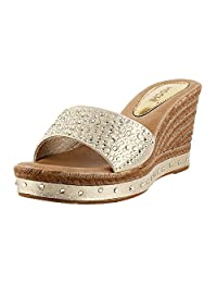 Mochi Shoes High Heel Wedge Mules