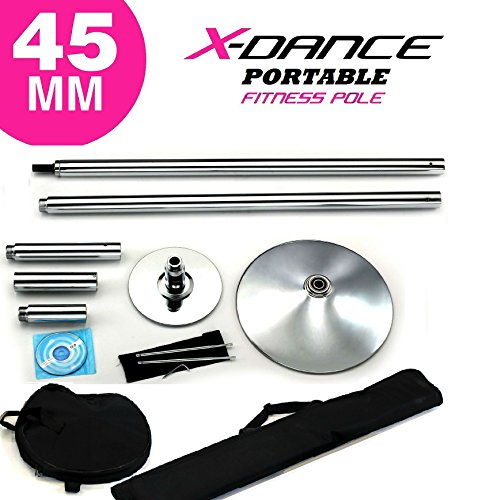 X-Dance (TM) 45 mm Professional Exotic Fitness Removable Pole Dance