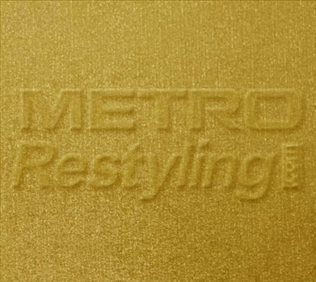 """Metro Coarse Brushed Gold Craft, Cricut & Sign Vinyl Decal Adhesive-Backed Sticker Film 24""""X12"""" front-166434"""