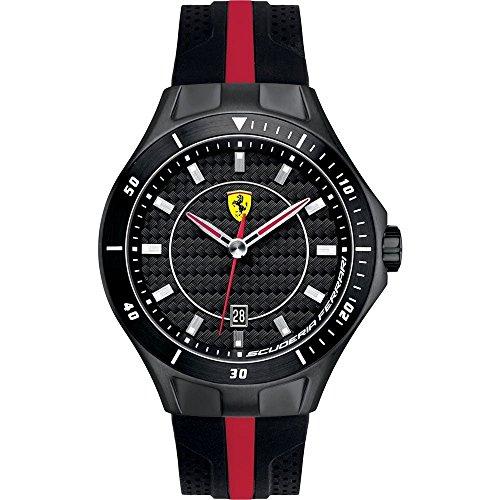 Ferrari 830079 - Reloj analógico de cuarzo para hombre, correa de silicona color negro
