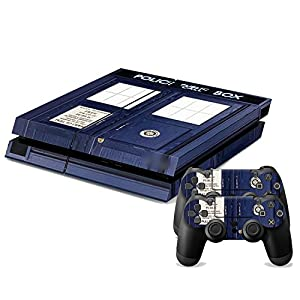 GOOOD PS4 Designer Skin Decal for PlayStation 4 Console System and PS4 Wireless Dualshock Controller - British Police Box
