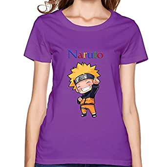 Uzumaki Naruto Womens T-Shirt, Purple O-Neck Shirt Size XXL at Amazon