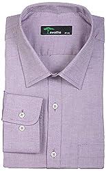 SWATHE Men's Formal Shirt (5914-4-40, Purple)