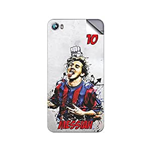 ezyPRNT Back Skin Sticker for Micromax Fire 4 A107 Lionel Messi 'Messiah' Football Player 5