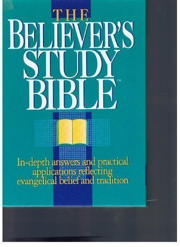 Holy Bible: The Believer's Study Bible New King James Version Burgundy Bonded Leather