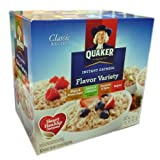 Quaker Instant Oatmeal Packets Variety Pack, 52-Count ~ Instant Oatmeal