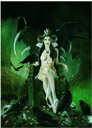 editions-ricordi-2701n23011-puzzle-de-500-piezas-del-cuadro-la-reina-de-los-cuervos-de-jose-del-nido
