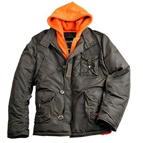 """Alpha Ind. Jacke """"Cobbs III"""" – rep.grey/orange günstig kaufen"""