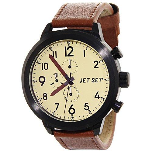 Jet Set Hommes Montre de Manhattan Marron/noir/crème j7458b-016