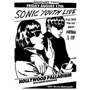 amazoncom 24x33 vintage sonic youth nirvana stp poster