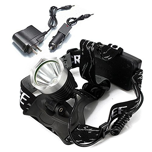 MaMaison007 CREE XM-L T6 1600lm LED bicicletta faro ricaricabile AC caricabatteria da AUTO