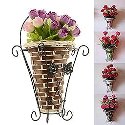 Hot Sale 1pcs, Vintage Weave Vine Wall Hanging Flower Basket Flower Arrangment Home Decor New