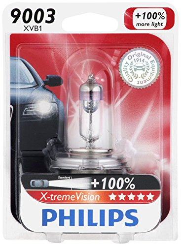 Philips 9003 X-tremeVision Upgrade Headlight Bulb, 1 Pack (Honda Civic 2000 Lx Glasses Seal compare prices)