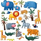 2 X RoomMates Repositionable Childrens Wall Stickers Jungle Adventure (DESIGN 1, 2)