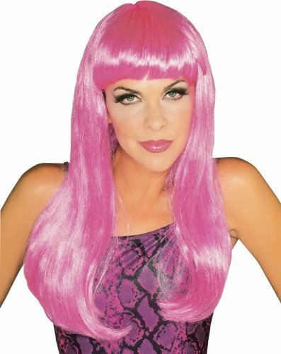 Rubie's Costume Co Women's Hot Pink Glamour Wig, Hot Pink, One Size
