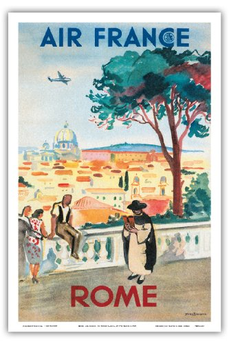 rome-air-france-st-peters-basilica-vintage-airline-travel-poster-by-yves-brayer-c1949-master-art-pri
