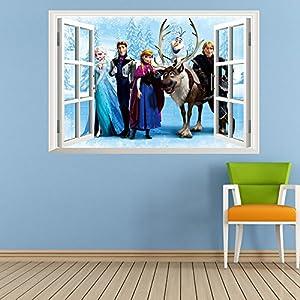 Clest F&H frozen elsa window pegatinas de pared infantiles dormitorio decoración Mural del hogar de Clest F&H en Bebe Hogar