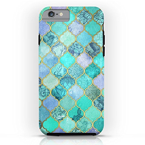 Society6 Cool Jade & Icy Mint Decorative Moroccan Tile Pattern Tough Case iPhone 6s
