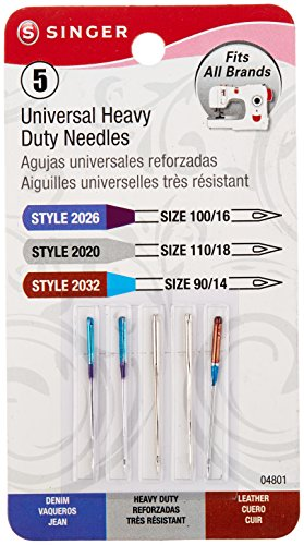 For Sale! Universal Heavy Duty Machine Needles -5/Pkg