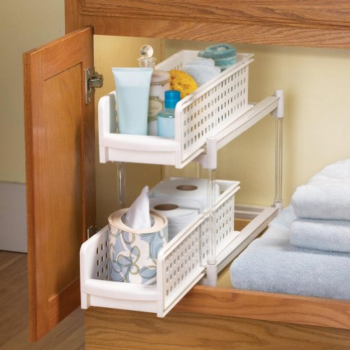 Pullout bathroom drawer