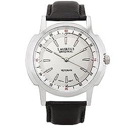 Laurels Analogue Veteran 1 Silver Dial Mens Watch - (Lo-Vet-102)