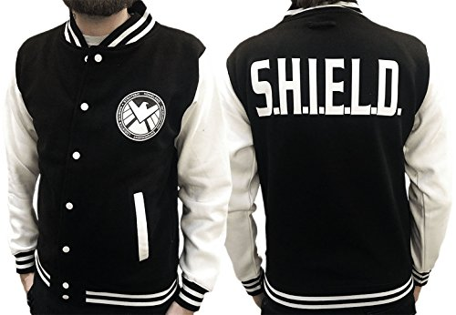 Agents Of S.H.I.E.L.D. - Design ispirato - Varsity Jacket Black & White Large