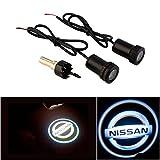 WONFAST® For NISSAN Car Auto Laser Projector Logo Illuminated Emblem Under Door Step courtesy Light Lighting symbol sign badge LED Glow Performance