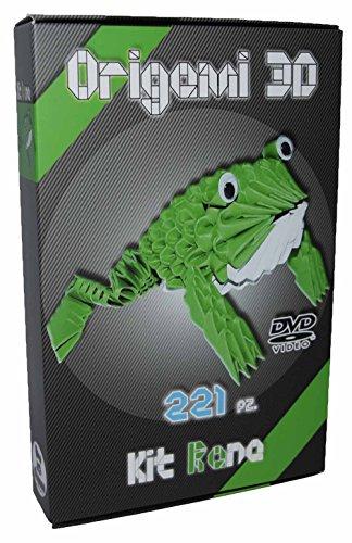 Kit origami 3d frosch frog 221 st ck karton von 1 32 auf - Frosch auf englisch ...