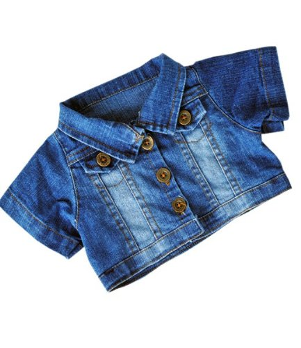 51W85nSd 8L Buy  Faded Denim Jacket Outfit Teddy Bear Clothes Fits Most 14   18 Build a bear, Vermont Teddy Bears, and Make Your Own Stuffed