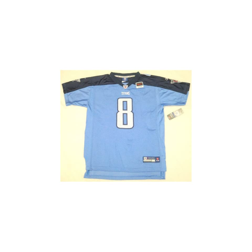 NFL Reebok Tennessee Titans Matt Hasselbeck Youth Jersey Small (Size 8) Light Blue