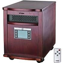 Optimus H-8010 Infrared Quartz Heater with Remote Control